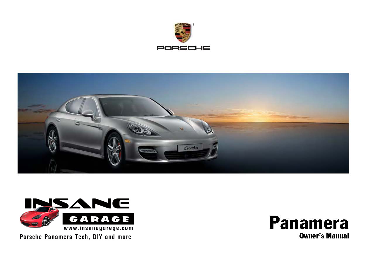 Porsche Panamera User Guide Owners Manual - InsaneGarage.com