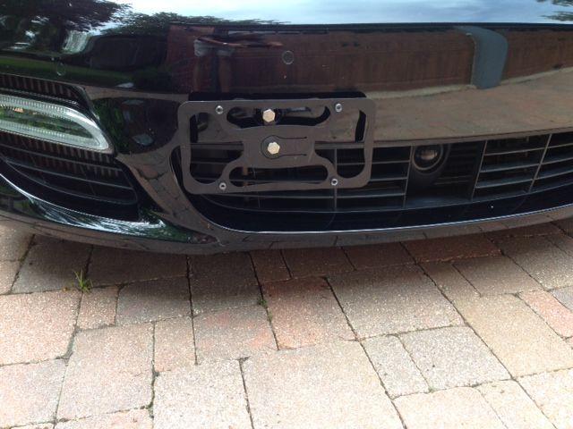 Panamera Front License Plate Bracket Autos Post