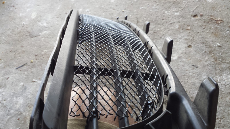 DIY - Porsche Panamera grill/grille mesh guard for front bumper