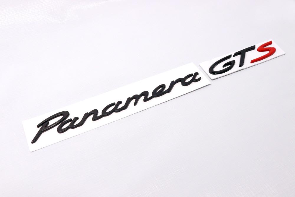 Hot Black Quot Panamera Gts Quot Emblem Badge For Rear Trunk