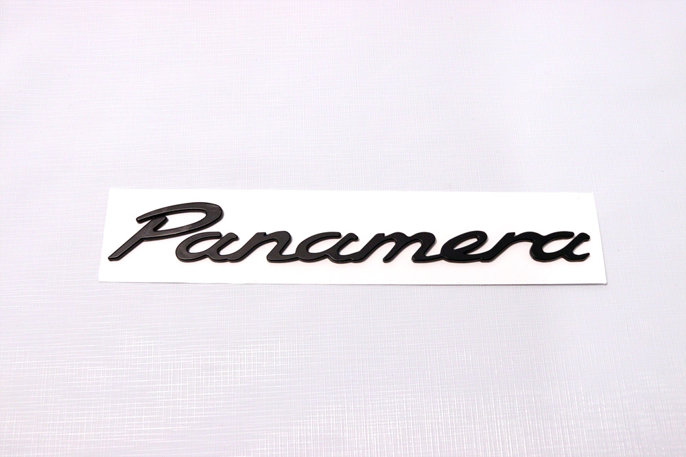 Hot  Black  U0026quot Panamera U0026quot  Emblem    Badge For Rear Trunk Lid